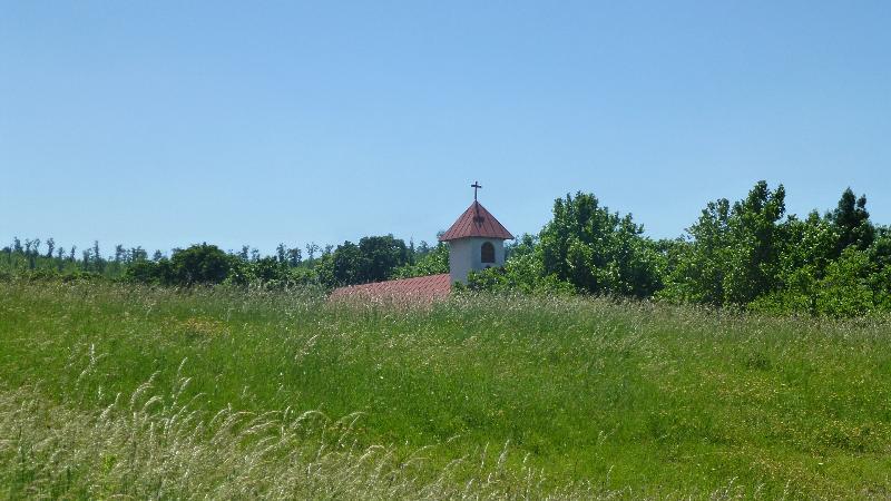 Sonnenberg Wandern Leithagebirge Wanderung Waldweg Wald Weg Kirche Hornstein