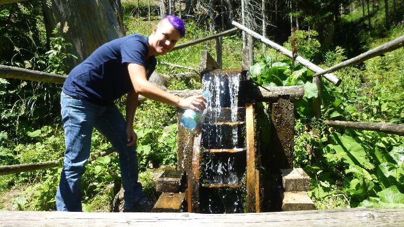Wandern Natur Wald Mariensee Wildwasser Pöstlingbach Wassermühle Quellwasser