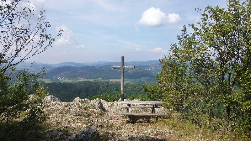 Maria Raisenmarkt Ruine Arnstein Peilstein Wandern Natur Wald Wanderung Gipfelkreuz Aussicht