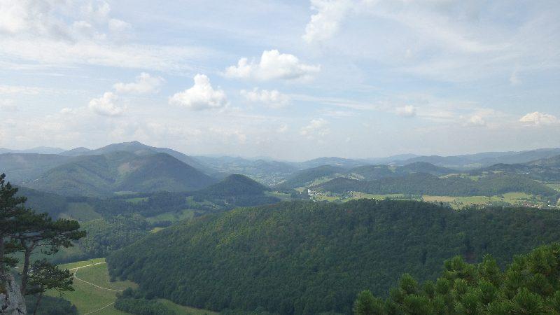 Maria Raisenmarkt Ruine Arnstein Peilstein Wandern Natur Wald Wanderung Gipfelkreuz Gipfel