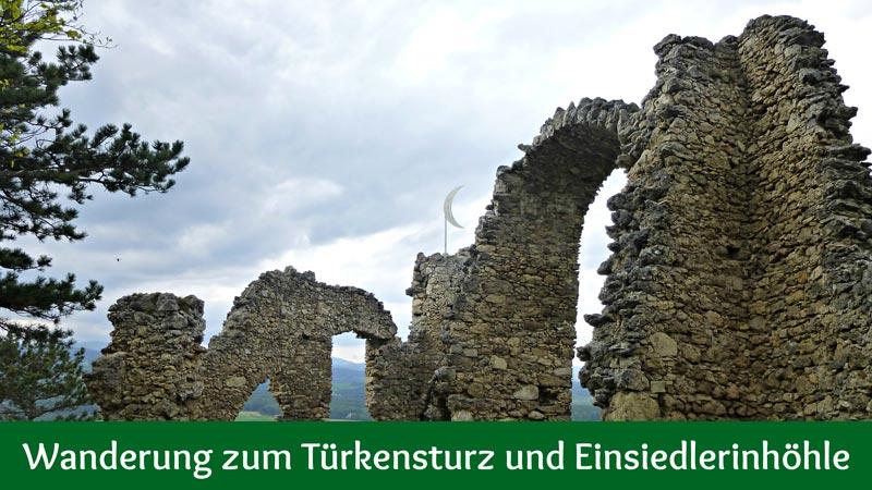 Klettersteig Türkensturz : Einfache wanderung zum türkensturz