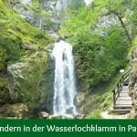 Wandern in der Wasserlochklamm in Palfau