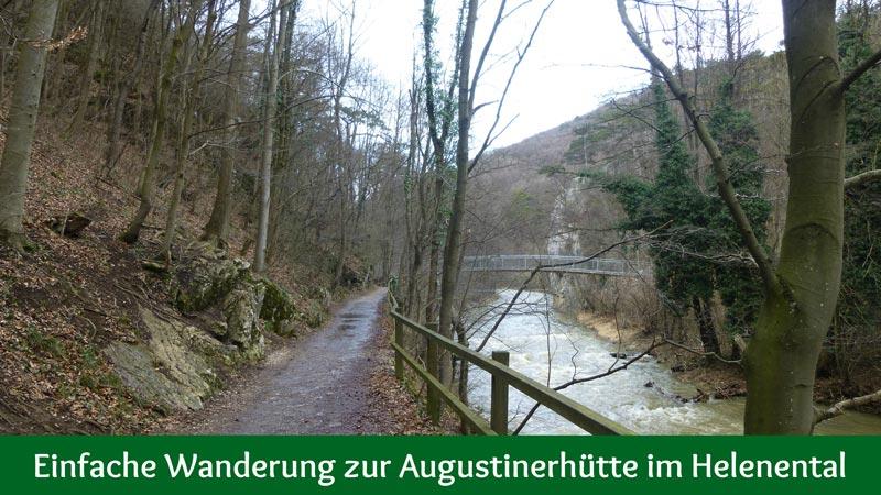 Wandern Wanderung Natur Helenental Augustinerhütte Fluss