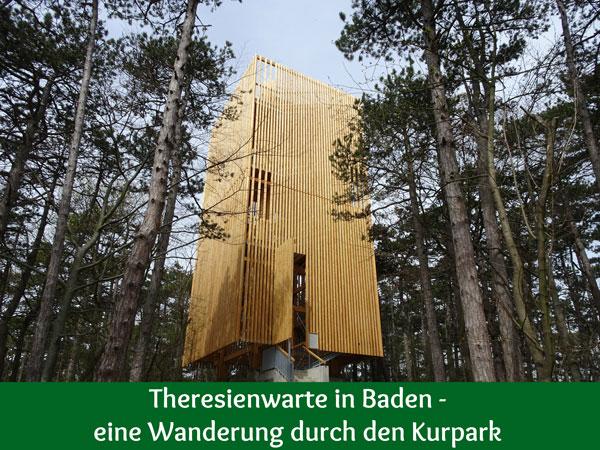 Theresienwarte Baden Kurpark Beethoventempel Rudolfshof Karolinenhöhe Raimundaussicht Anna Höhe Aussicht Natur Wandern Wanderung Wald Aussichtswarte