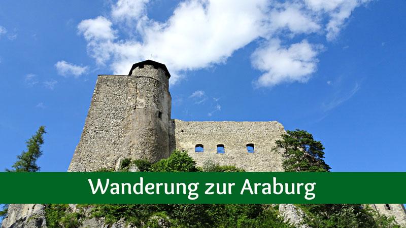 Araburg Wanderung Wandern Niederösterreich Triestingtal Kaumberg Aussicht Aussichtswarte