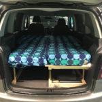 VW Touran Mini Camper Ausbau 2019  – Ein Holzbett für zwei Personen